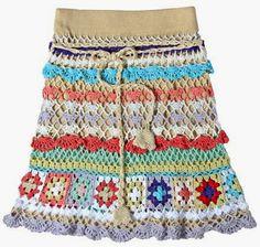 Crochetemoda: Saias de Crochet