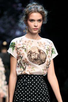 fashioninquality:  Josephine Skriver at Dolce & Gabbana Spring Summer 2014 | MFW