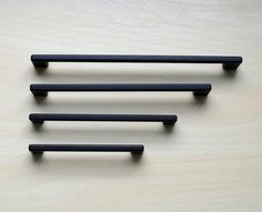 image result for modern matte black cabinet hardware
