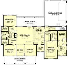 Hope Df House Plan In 2020 House Plans House Floor Plans Dream House Plans