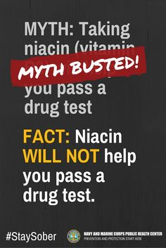how to use niacin to pass a drug test
