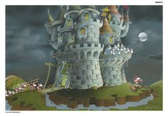 Castle Under Siege Limited Edition print available from www.mordillocollection.com