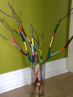twiggy happiness twiggy happiness - Sites new Diy Home Crafts, Craft Stick Crafts, Diy Crafts To Sell, Easy Crafts, Diy For Kids, Crafts For Kids, Arts And Crafts, Rustic Bridal Bouquets, Painted Driftwood