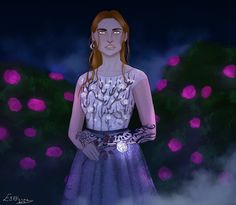 Feyre art by evilienne on tumblr