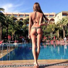 A swim to tone her body