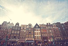 Amsterdam Netherlands Photo Art Print Shops Houses building facade - 8 x 12