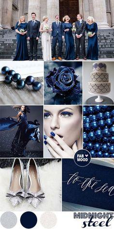 Fiesta fabulosa en facebook: https://www.facebook.com/TuFiestaFabulosa midnight blue and silver winter wedding 2013 color trends