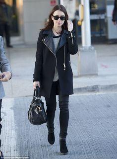 Lily Collins, Zara coat