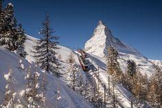 Trainspotting III by Jan Geerk (Matterhorn, Switzerland) Mount Everest, Tourism, Boat, Vacation, Popular, Mountains, Photography, Switzerland, Traveling