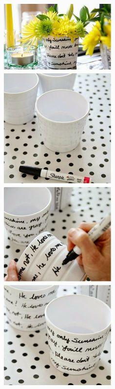 10 Minute DIY Sharpie Art Planter  l  Who Said Crafts