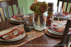 Create a gorgeous Fall Inspired Tablescape with @WorldMarket and Abbey from The Cards We Drew. #WorldMarket_HGTV
