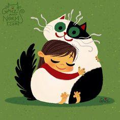 "Today is ""National HUG day!!!!!"" Hug someone you love!  #griz #grizandnorm #junior #juniorkitty #cat #catart #chubbykitty #catillustration #kitty #kittyart #kittyillustration #kittycatclub #fatcat #fatkitty #chubbycat #hug #hugs #nationalhugday #hugday #january21 #artistoninstagram #artistontumblr by grizandnorm"