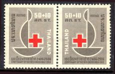 Thailand 1963 Red Cross Centenary, unmounted mint.