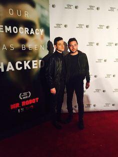 Rami + Sami Malek at Tribeca Film Festival for Mr. Rami Malek Twin, Rami Said Malek, Sami Malek, Gorgeous Men, Beautiful People, Frozen Pictures, Mr Robot, Tribeca Film Festival, Somebody To Love