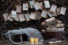 Anleitung für einen DIY-Adventskalender mit dem Bastelset von Tchibo und Masking-Tape