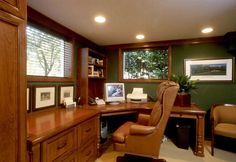 elegant and wood based modern home office