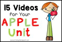 Apple themed YouTube videos for kids. A perfect complement to an apple unit study!