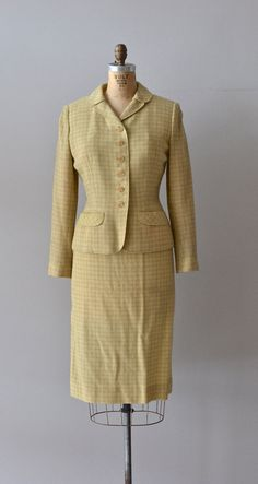 Country and Town suit / vintage 1950s suit / wool by DearGolden