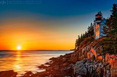 Sunset on Bass Harbor Headlight by Robin Keus on 500px