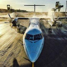 Great Shot! Bombardier Dash-8 Q400. By instagr.am/photojasinski #avgeek | by Runway8L