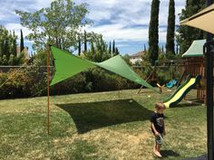 The tarp comes with adequate cord & tensioners for standard setups Vintage Halloween, Halloween Fun, Hennessy Hammock, Hammock Rain Fly, Tarp Shelters, Portable Shelter, Camping Tarp, Trekking Gear, The Settlers