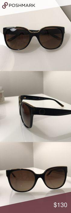 Tory Burch black-  gold rim polarized sunglasses Tory Burch polarized sunglasses.  Black with gold rim. Model- ty9042 Tory Burch Accessories Sunglasses