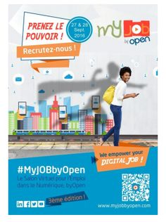 3 ème édition de #MyJOBbyOpen, Salon Virtuel pour l'Emploi dans le Numérique by Open