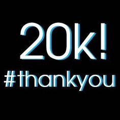 We just hit 20000 followers!  #ThankYou to all our loyal listeners!  We 3 years in and hope for another 3 years of continued success!