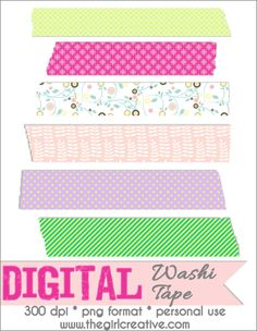 Download your free digital scrapbooking embellishments. Washi Tape is a great little element to give that little something extra to your scrapbook pages.
