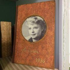 (SWE) DIY Do a frame of an old BOOK COVER    En fotoram gjord av en bokpärm