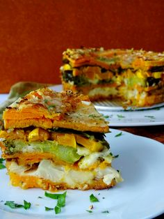 "If you're a fan of vegetables then you're going to love this recipe! Layers of your favorite veggies stacked into a springform pan and ""glued"" together by tasty shredded cheese, it's a show stopper and it could work very well as a side dish to your holiday table. The only thing you'll need to do …"