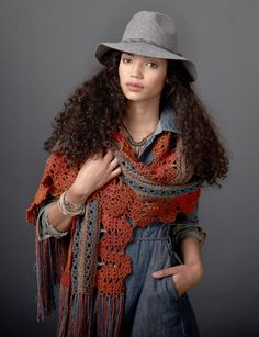 Globetrotter Shaw: free #crochet pattern