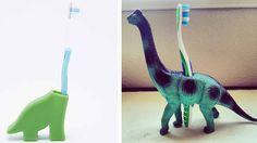 pot a brosse à dent dinosaure