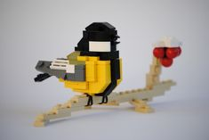 Little bird by Actionfigure Lego Animals, Great Tit, Lego Craft, Lego Design, Lego Instructions, Lego Duplo, Lego Creations, Legos, Creatures