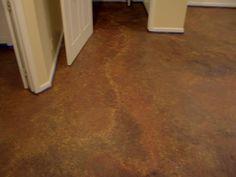 DIY Painted Concrete Floor