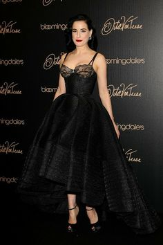Dita Von Teese at the launch of her new lingerie collection, inspired by the Golden Age of Hollywood at Blooomindales at Century City Shopping Mall. May 17, 2014.