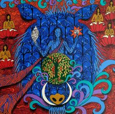 ' The third avatar of Lord Vishnu who takes the form of a Boar to rescue the earth from a demon HIRANYAKSHA. ' - Painted by Artist Arti Vohra Krishna, Mythology, God, Type, Painting, Dios, Painting Art, Paintings, Allah