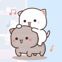 Cute Cartoon Pictures, Cute Love Pictures, Cute Love Cartoons, Cute Images, Mochi, Best Friends Shoot, Cat Doodle, Chibi Cat, Cute Cat Wallpaper