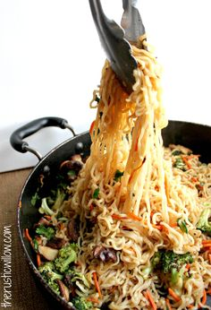 I need to make this Ramen vegetable stir fry for dinner soon!