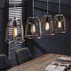 Vintage hanglamp van metaal