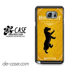 Hogwarts Hufflepuff For Samsung Galaxy Note 5 Case Phone Case Gift Present YO