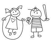 Obraz znaleziony dla: Stick Figure People Clip Art