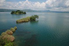 Ilopango lake, El Salvador