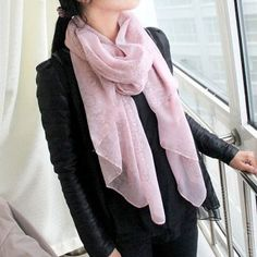Lady's Autumn Winter Season Colorful Printed Silk Scarves Shawl