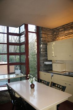 Falling Water - kitchen - Frank Lloyd Wright