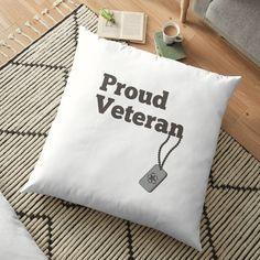 'Proud Veteran - army hero' Floor Pillow by RIVEofficial