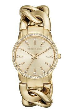 Michael Kors 'Lady Nini' Chain Link Bracelet Watch, 35mm available at #Nordstrom