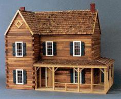 Log Cabin Dollhouse Kits  http://www.nancysdollhouses.com/logcabinkits.htm#