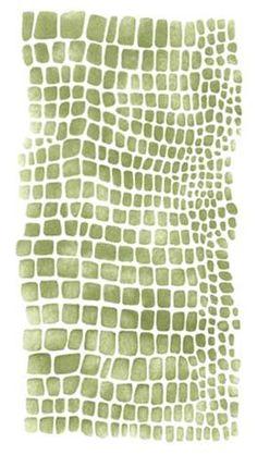 Crocodile Skin Wall Stencil