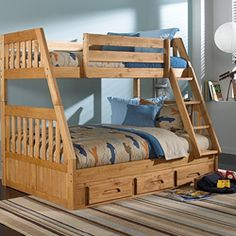 Discovery World Furniture Explorer Ginger Mission Bunk Bed Twin/Full